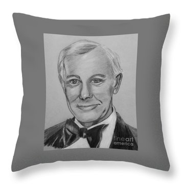 Here's Johnny Throw Pillow by Sharon Ackley