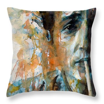 Hey Mr Tambourine Man @ Full Composition Throw Pillow by Paul Lovering