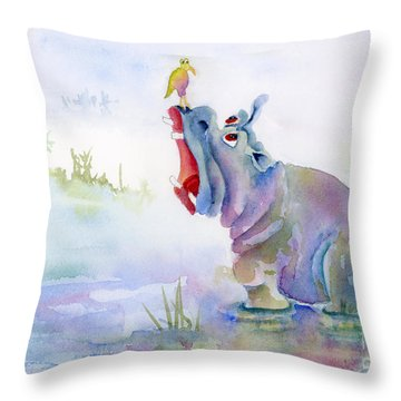 Hey Whats The Big Idea Throw Pillow by Amy Kirkpatrick