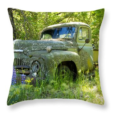 Hiding Throw Pillow by Idaho Scenic Images Linda Lantzy