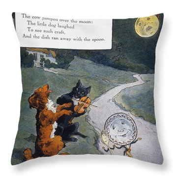 High Diddle Diddle Throw Pillow by Granger