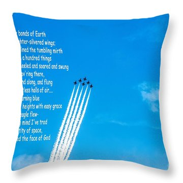 High Flight Throw Pillow by Jon Burch Photography