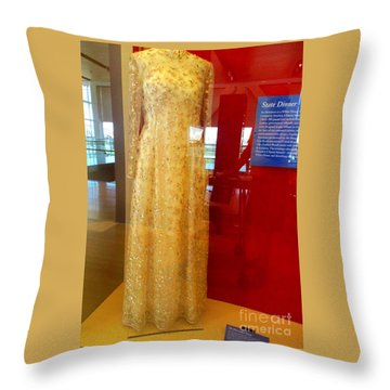 Hillary Clinton State Dinner Gown Throw Pillow by Randall Weidner