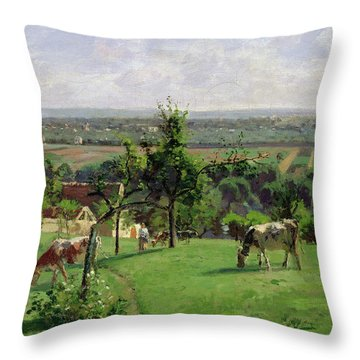 Hillside Of Vesinet Throw Pillow by Camille Pissarro