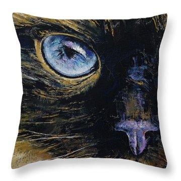 Burmese Cat Throw Pillow by Michael Creese