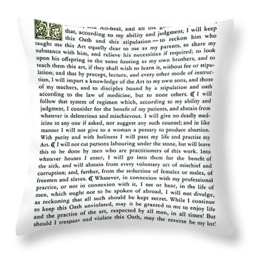 Hippocratic Oath, 1938 Throw Pillow by Science Source