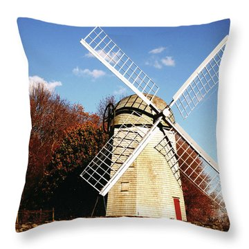 Historical Windmill Throw Pillow by Lourry Legarde