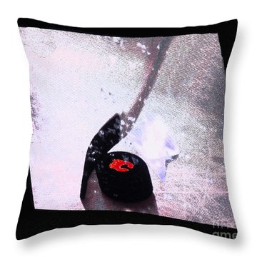 Hockey Season Begins Throw Pillow by Al Bourassa