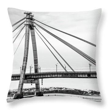 Hockey Under The Bridge Throw Pillow by Ant Rozetsky