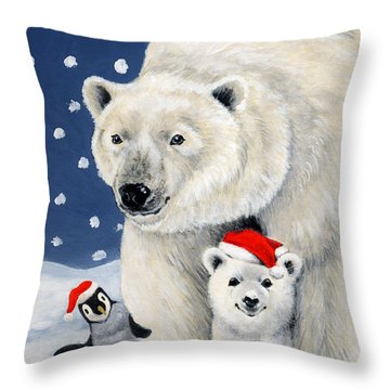 Holiday Greetings Throw Pillow by Richard De Wolfe