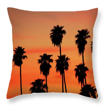 Hollywood Sunset Throw Pillow by Mariola Bitner