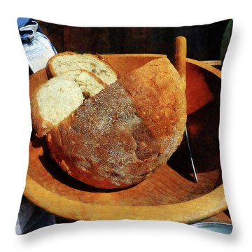 Homemade Bread Throw Pillow by Susan Savad