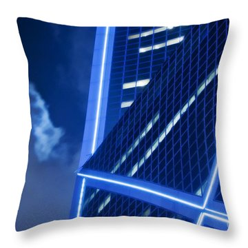 Hong Kong Moonlight Throw Pillow by Ray Laskowitz - Printscapes