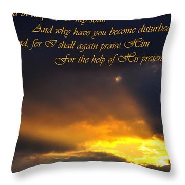 Hope In God Throw Pillow by Thomas R Fletcher