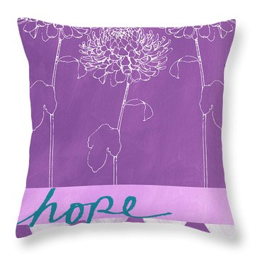 Hope Throw Pillow by Linda Woods