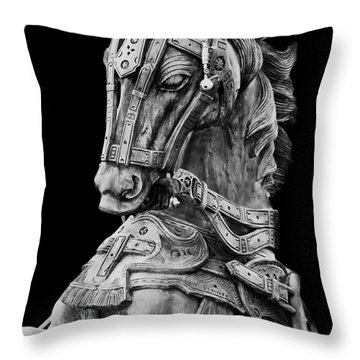 Horse  Throw Pillow by Charuhas Images