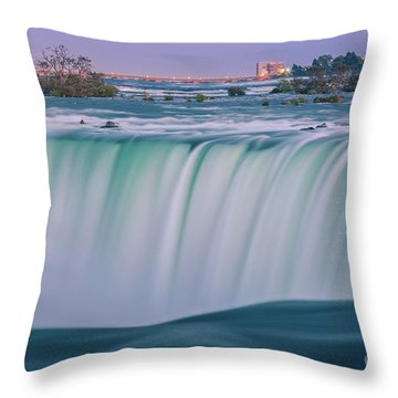Throw Pillows Magnolia : Horseshoe Falls, Part Of The Niagara Falls Photograph by Henk Meijer Photography