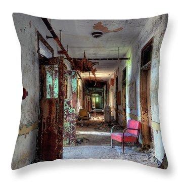 Hospital Hallway Throw Pillow by Murray Bloom
