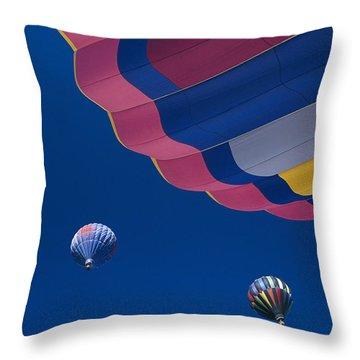 Hot Air Balloons Throw Pillow by Greg Vaughn - Printscapes