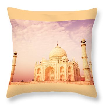 Hot Taj Mahal Throw Pillow by Nila Newsom