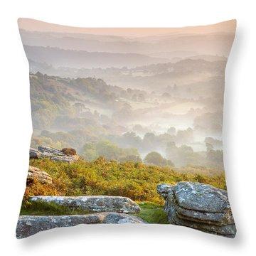 Hound Tor Throw Pillow by Sebastian Wasek