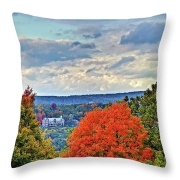 Hudson Valley Hyde Park Ny Throw Pillow by Don Mennig