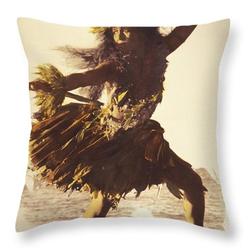 Hula In A Ti Leaf Skirt Throw Pillow by Himani - Printscapes