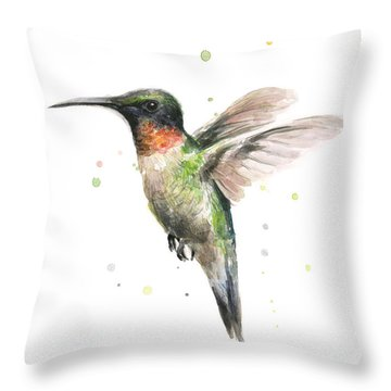 Hummingbird Throw Pillow by Olga Shvartsur