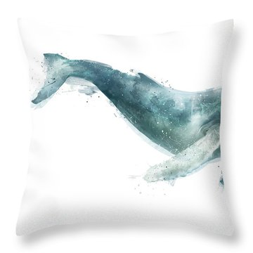 Humpback Whale From Whales Chart Throw Pillow by Amy Hamilton