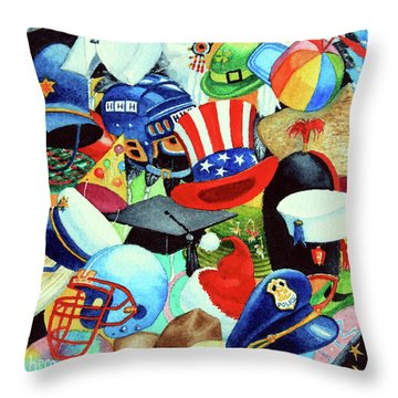 Hundreds Of Hats Throw Pillow by Hanne Lore Koehler