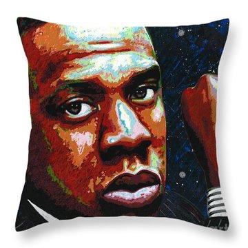 I Am Jay Z Throw Pillow by Maria Arango