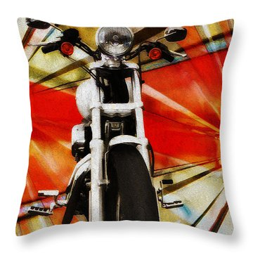 I Like Bikes Throw Pillow by Bill Cannon