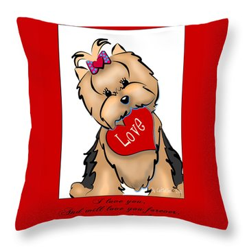 I Love You Throw Pillow by Catia Cho