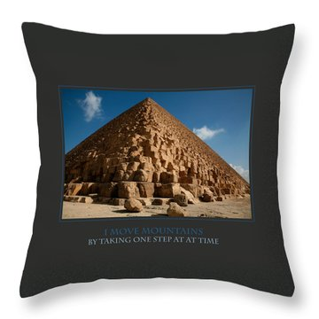 I Move Mountains Throw Pillow by Donna Corless