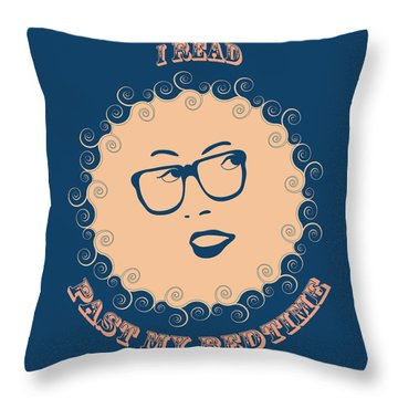 Throw Pillow featuring the painting I Read Past My Bedtime by Frank Tschakert