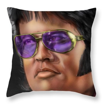 I Remember Elvis Throw Pillow by Reggie Duffie