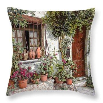 I Vasi Dietro La Grata Throw Pillow by Guido Borelli