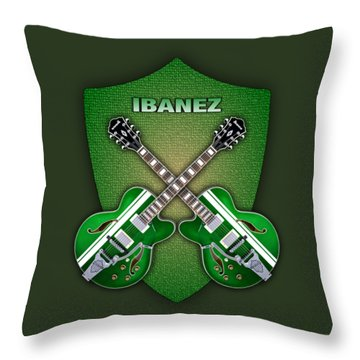 Ibanez Geen Shield Throw Pillow by Doron Mafdoos