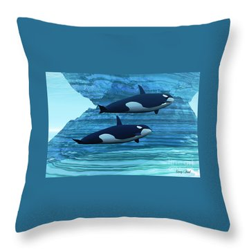 Ice Palace Throw Pillow by Corey Ford