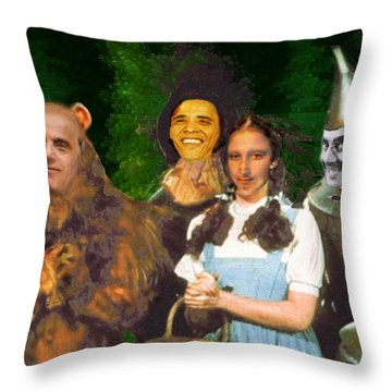 If I Only Had A Brain Throw Pillow by Seth Weaver
