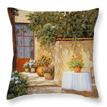 Il Muretto E Il Tavolo Throw Pillow by Guido Borelli