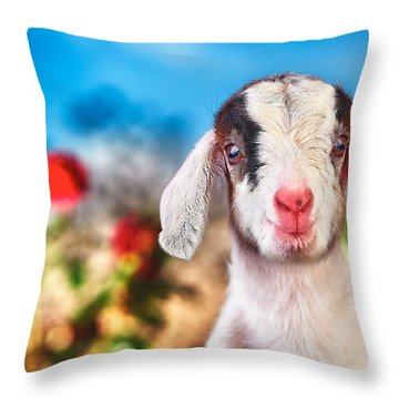 I'm In The Rose Garden Throw Pillow by TC Morgan