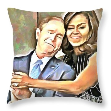 Imagine All The People Throw Pillow by Wayne Pascall