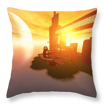 Imagine Throw Pillow by Corey Ford