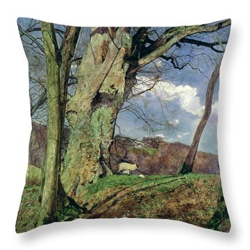 In Early Spring Throw Pillow by John William Inchbold