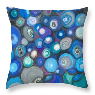 In Front Of The 8 Ball Throw Pillow by Ania M Milo