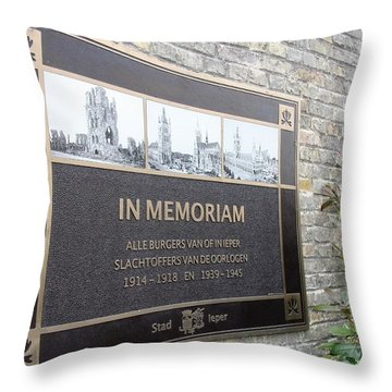 Throw Pillow featuring the photograph In Memoriam - Ypres by Travel Pics