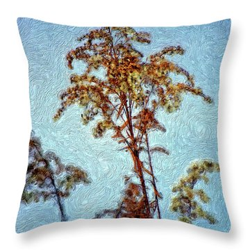 In Praise Of Weeds II Throw Pillow by Steve Harrington