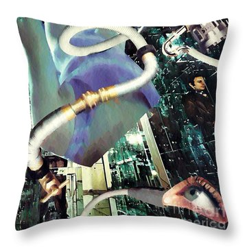 In Production Throw Pillow by Sarah Loft