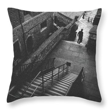 In Pursuit Of The Devil On The Stairs Throw Pillow by Joseph Westrupp